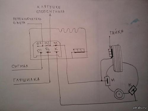 Минимальная схема проводки